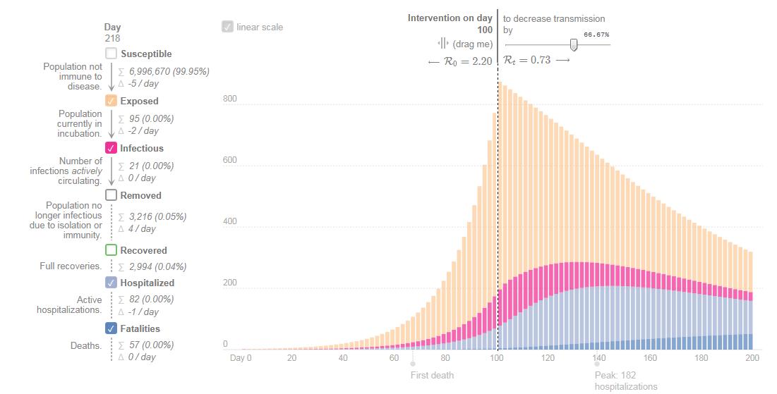 Epidemic model incubation period 14 days